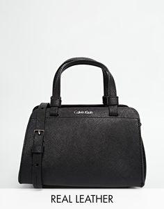 Imagen 1 de Bolso pequeño de cuero en negro de Calvin Klein