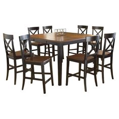 Found it at Wayfair - Englewood Square Dining Table in Black Chairs come in sets of 2 for $153.