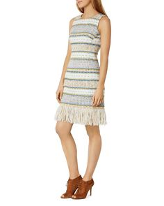Karen Millen Fringe Tweed Dress