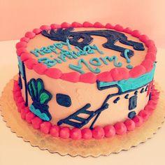 Ninja birthday cake 2tartsbakery customcake girlninjasrock