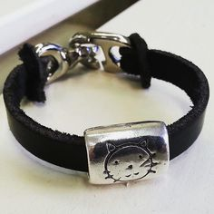 "Leder-Armband ""Katze"""