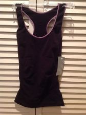 NWT Gibor Sabrina TREND & TOUCH TURNUP RACERBACK TANK SLIMMER SMALL BLACK