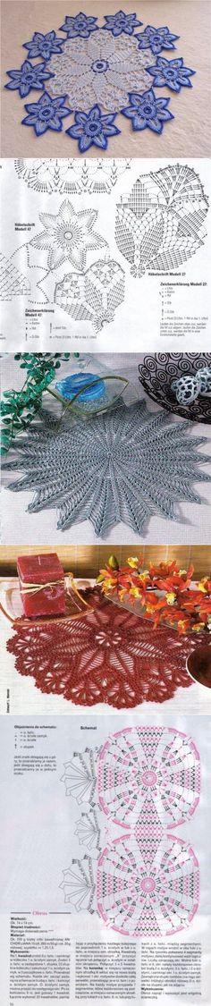 Вязание: подборка красивых салфеток