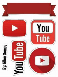 Youtube Theme, Youtube Party, Cake Youtube, Foto Youtube, Youtube Logo, Youtube Youtube, Instagram Party, Youtube Birthday, Graduation Scrapbook