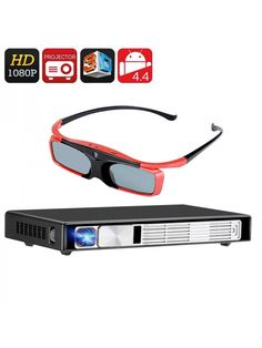 This projector comes with support and glasses - for the ultimate movie watching experience Bluetooth and Wi-Fi bring wireless connec Projector Reviews, Led Projector, Projectors For Sale, 3d Glasses, Home Movies, Video Home, Venetian Mirrors, Electronics Gadgets, Cool Things To Buy