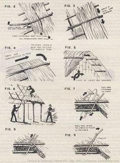 Building with Native Materials, WWII Tactical and Technical Trends, No. Architecture Blueprints, Vernacular Architecture, Historical Architecture, Architecture Details, Straw Bale Construction, House Construction Plan, Tyni House, Tiny House Cabin, Thatched House