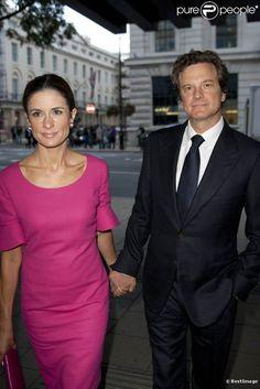 Colin Firth et sa superbe épouse romaine Livia à Londres pour le vernissage de Wool Modern.