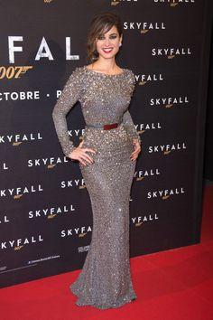 "Berenice Marlohe wears ELIE SAAB Fall 2012-13 to the Paris Premiere of ""Skyfall""."