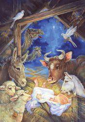 Christ is Born Christmas Garden Flag Nativity Religious Briarwood Lane