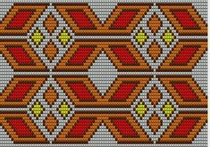 """The location where building and construction meets style, beaded crochet is the act of using beads to decorate crocheted products. """"Crochet"""" is derived fro Tapestry Crochet Patterns, Bead Loom Patterns, Weaving Patterns, Cross Stitch Patterns, Crochet Chart, Crochet Stitches, Mochila Crochet, Tapestry Bag, Crochet Purses"""