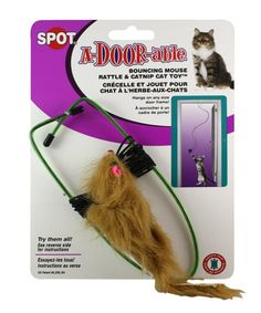 A-Door-Able Bouncing Mouse Cat Toy -- See this great product. (This is an affiliate link and I receive a commission for the sales)
