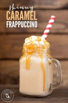 Skinny Caramel Frappuccino - all the taste with none of the guilt! And just three ingredients!