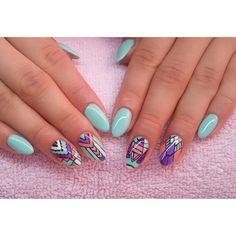 Miętuski :) #semilac #diamondcosmetics #ilovesemilac #nailart #nails #hybryda #hybrid #manicure #mani #mint #paznokcieżelowe #paznokcie #migdałki #żelowe