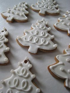 WHITE Christmas Tree Cookies | Flickr - Photo Sharing!