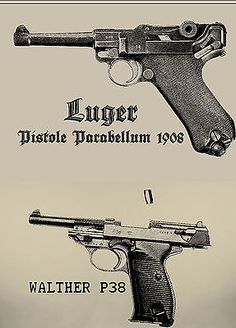 German Luger P08 & P38 T shirts WW2 Wehrmact Waffen (2 shirts 1 price) S- 3XL