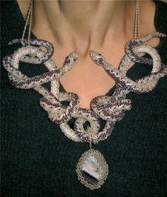 Lovers of snakes - Russian bead crochet!