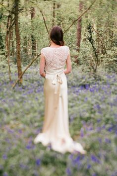 Backless lace wedding dress by Sabina Motasem  | Photography by http://www.joannanicolephotography.com/