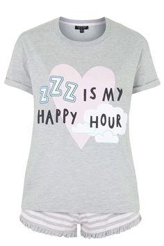 ZZZ is My Happy Hour Pyjama Set - Nightwear - Clothing - Topshop