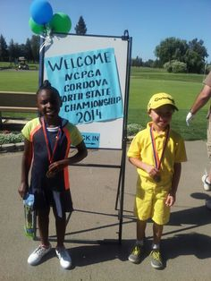 Golfergurl and her team partner Jacob!  1st place  in their age group congrats!
