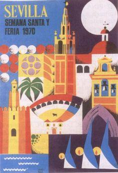 Cartel de Las Fiestas de Primavera de Sevilla 1970