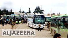 Syria: Evacuation buses leave Madaya, Zabadani for Idlib – Haberler – Son dakika Al Jazeera English, Syria, Buses