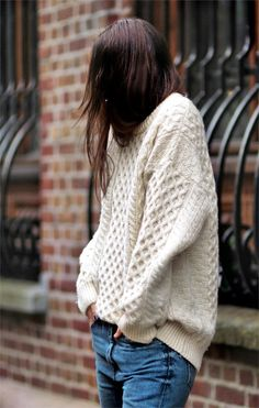 A Downtown Cool Take On The Cable Knit Sweater