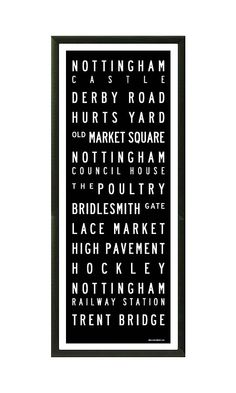 Nottingham Destination Print