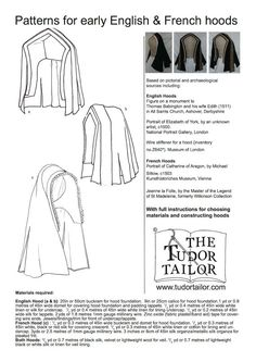 Pattern for Women's Early Tudor English and by TheTudorTailor