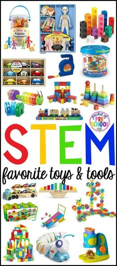 My favorite STEM tools and toys for preschool, pre-k, and kindergarten. Perfect to use in the classroom or at home with your little learner.