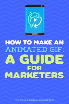 GIFs give marketers a quick, informative, or fun way to convey a message while grabbing an audience's attention.  In this article, you'll discover how to make your own GIFs for social media.