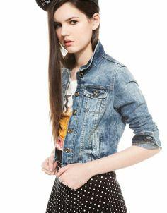 Bershka Spain - BSK denim jacket Women Wear, Stylish, Jackets, Products, Fashion, Italia, Down Jackets, Moda, Fashion Styles