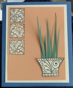 Michael Strong vase stamp, Club Scrap solid paper