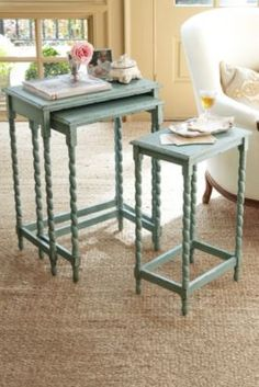 Riviera Nesting Tables - French Nesting Tables, Small Sofa Tables   Soft Surroundings
