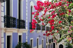 Colorful Balconies of Old San Juan, Puerto Rico.