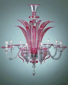 Murano hand blown glass chandelier, Venice, Italy