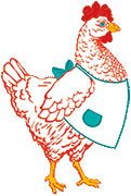 The logo for the Farm Girl Sisterhood Badge... Ain't she cute? :) I want one!