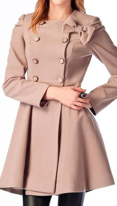 Minky pink bow coat // love this!