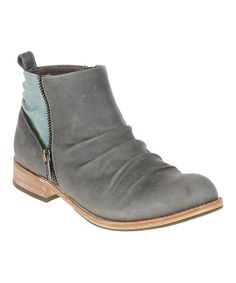 Take a look at this Dark Gray Kiley Leather Ankle Boot today!