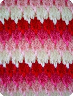 Larksfoot crochet stitch Almost 3D in the photo. Striking.