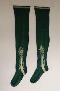 Gentleman's Stockings c 1750 18th Century Clothing, 18th Century Fashion, Vintage Costumes, Vintage Outfits, Vintage Clothing, Vintage Fashion, Rococo Fashion, European Dress, Vintage Stockings