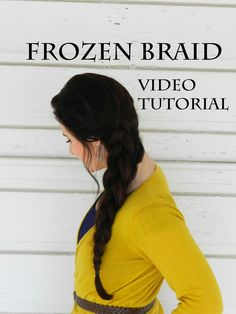 Frozen long hair braid . Video tutorial . So Helpful