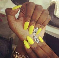 Yellow, black and white