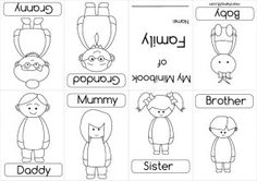 preschool worksheets family - Buscar con Google