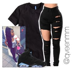"""Untitled #545"" by qveenmm on Polyvore featuring H&M and NIKE"