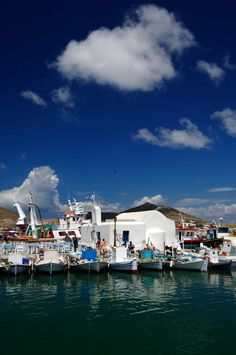 In #Paros island, at almost every coastal settlement, you will come across small fishing ports, a place to rest for the traditional fishing boats - Kaiki.