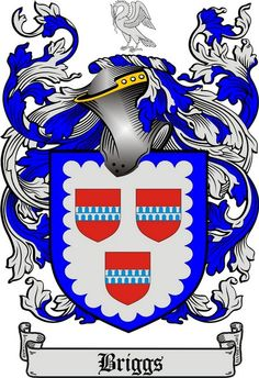 briggs family crest briggs coat of arms gifts available at WWW.4CRESTS.COM #heraldry #family #crest #shield #crests #shields #genealogy #coatofarms