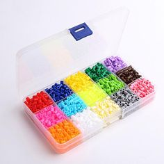 5mm 15 Colors 1500Pcs Pegboard Hama Peas Beads Jigsaw Puzzle Diy Educational Toys Gift For Kids Children