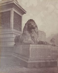 """Exhibition: 'Victorian London in Photographs 1839 to 1901' at the London Metropolitan Archives. """"This is a fascinating exhibition about the history of London portrayed through Victorian era photographs."""" http://artblart.com/2015/10/04/exhibition-victorian-london-in-photographs-1839-to-1901-at-the-london-metropolitan-archives/ Photo: Unknown photographer. 'Trafalgar Square' c. 1867"""