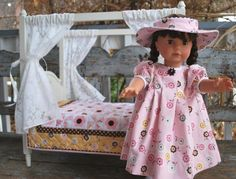 American Girl with Daisy Cottage Fabric! Darling.