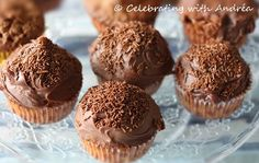 Cupcakes with Brazilian Brigadeiros Sweet Treats, Muffin, Cupcakes, Breakfast, Food, Morning Coffee, Sweets, Cupcake, Candy